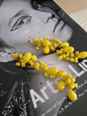 Zara Statement Earrings yellow synthetic material