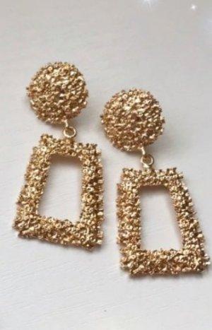 Zara Pendientes de cuentas color oro