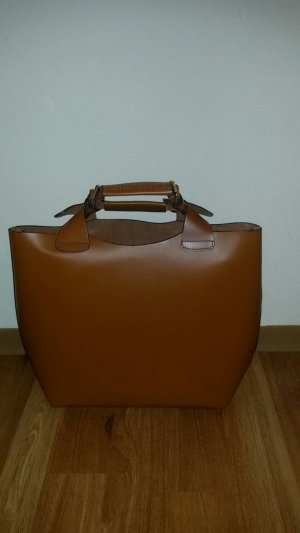 Zara Shopper cognac-coloured