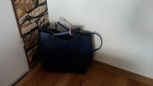 Zara Olivia Palermo Leder Shopper Tasche Blau