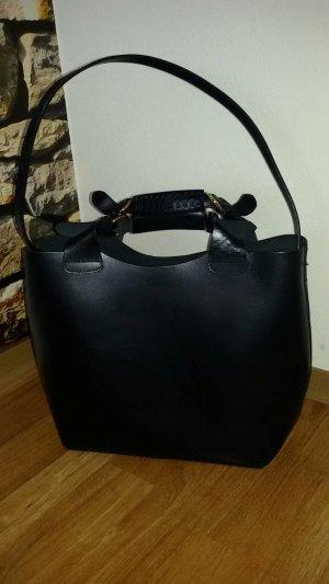 Zara Olivia Palermo Leder Tasche Shopper Schwarz