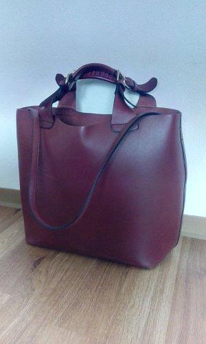 Zara Olivia Palermo Shopper Tasche Burgund