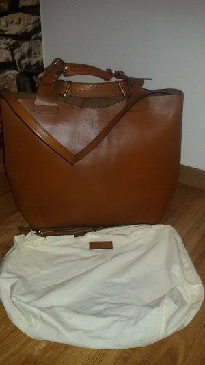 Zara Olivia Palermo Tasche Shopper Cognac Braun