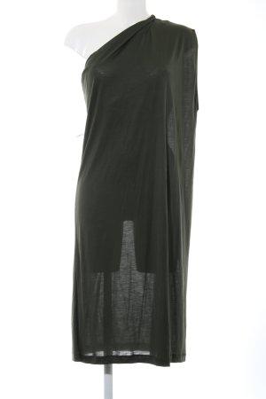Zara One Shoulder Dress khaki casual look