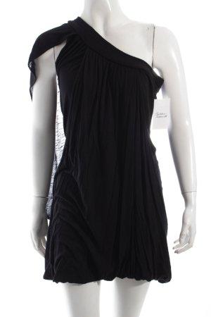 Zara One-Shoulder-Kleid schwarz extravaganter Stil