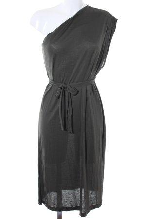 Zara One-Shoulder-Kleid waldgrün Casual-Look