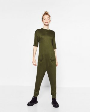 Zara Leisure Wear forest green