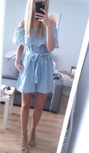 Zara Robe courte bleu azur