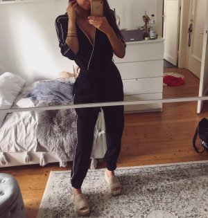 Zara Overall schwarz Einteiler Jumpsuit Body Top Playsuit