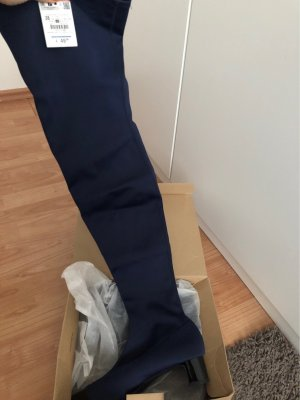 Zara Heel Boots dark blue