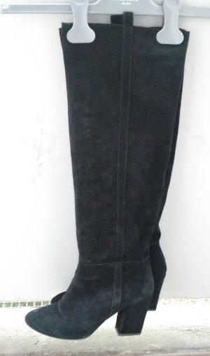Zara Slappe laarzen zwart Suede