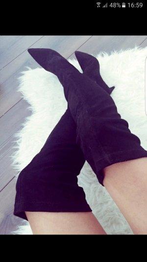 Zara Overknee Stiefel