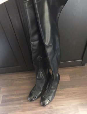 Zara Botas sobre la rodilla negro