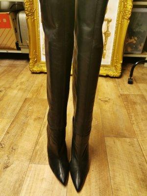 Zara Cuissarde noir cuir