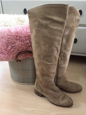 Zara Overknees Stiefel Wildleder Leder 37 wie neu