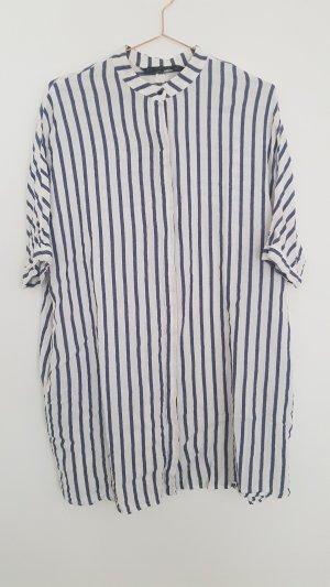 ZARA oversize Hemdkleid S/M weiss/blau Streifen Shirtkleid