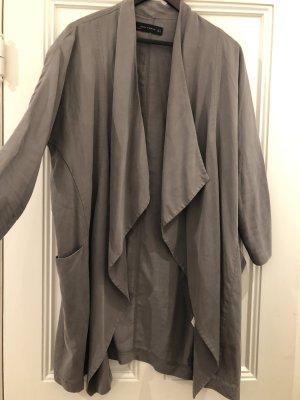 Zara Oversize Lyocell-Leinen Jacke mit Taschen