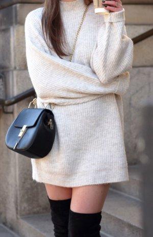 Zara Pull long blanc cassé-blanc
