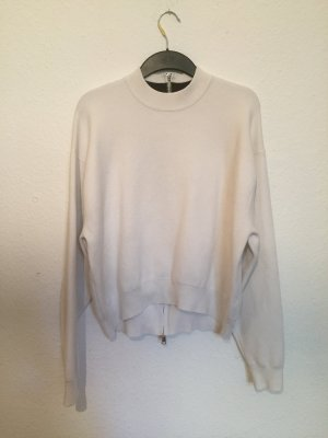 Zara Jersey holgados blanco-blanco puro