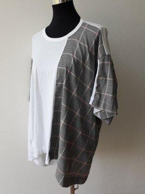Zara Oversize Shirt Weiß Karo Gr. S