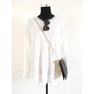 Zara oversize Shirt Weiß M L 40 42 NEU Longsleeve Sweater Basic Oberteil Langarm