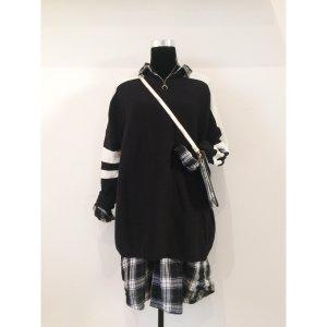 Zara oversize Strickpullover M 40 42 schwarz weiß Pullover Baumwolle Sweater