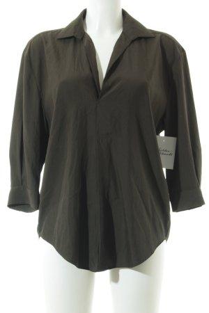 Zara Oversized Bluse dunkelgrün schlichter Stil