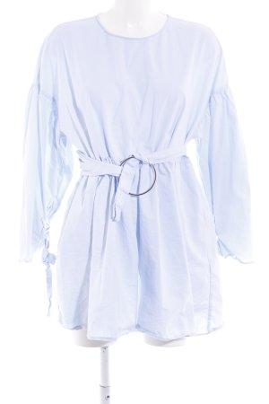 Zara Blusa taglie forti azzurro-blu pallido stile da moda di strada