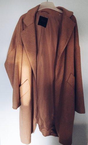 Zara Oversized Coat in Camel