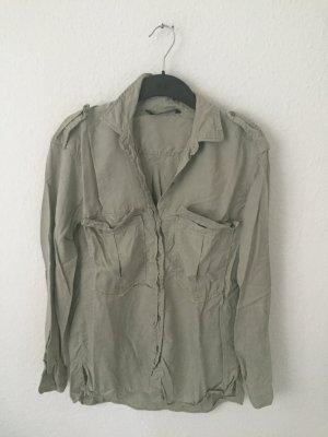Zara oversized Hemd Khaki Armee Style