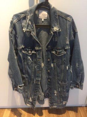 Zara jacke khaki fransen perlen neu collage parka jeansjacke ausverkauft blogger