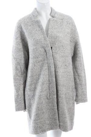 Zara Oversized Mantel hellgrau Kuschel-Optik