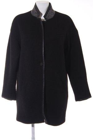 Zara Manteau oversized noir-gris clair style décontracté
