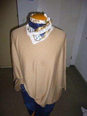 Zara Knit Oversized trui camel-beige Gemengd weefsel
