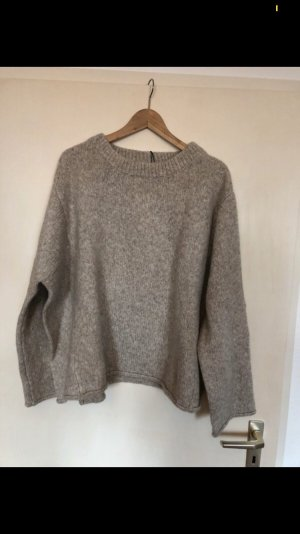Zara Oversized trui room-grijs-bruin