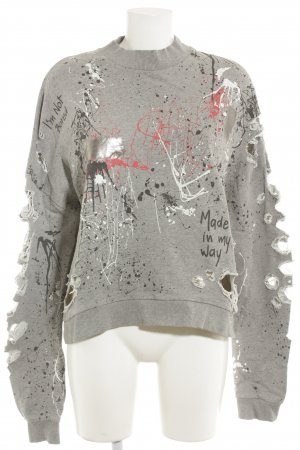 Zara Oversized Sweater spots-of-color pattern distressed style