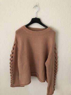 Zara oversized Pullover mit Ärmel Detail