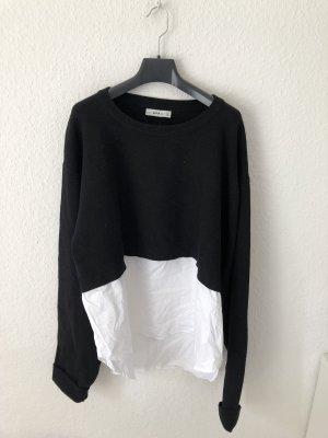 Zara oversized Pullover mit Blusen Detail