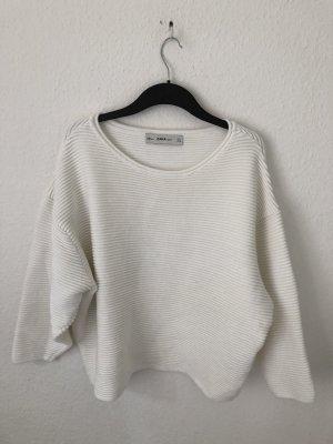 Zara Oversized Pullover Naturweiss