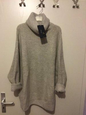Zara Jersey gris claro-color plata
