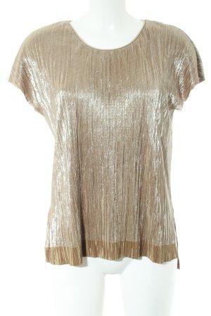 Zara Oversized Shirt goldfarben Glanz-Optik