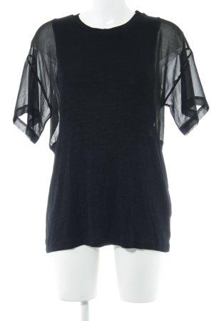 Zara Top extra-large noir Motif de tissage style décontracté