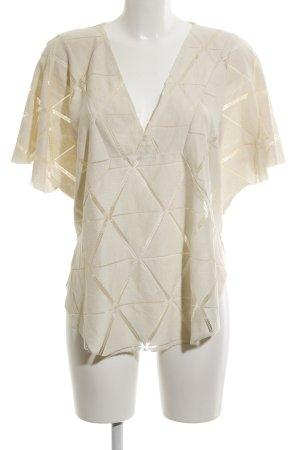 Zara Top extra-large crème motif tricoté lâche style décontracté