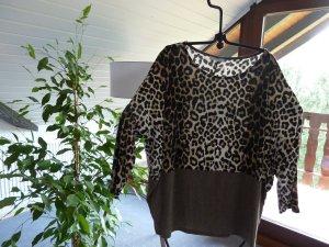 Zara Oversized shirt veelkleurig Viscose