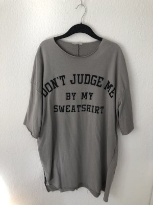 Zara Trafaluc Shirt Dress grey-grey brown