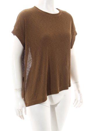 Zara Oversized Shirt olivgrün meliert Casual-Look