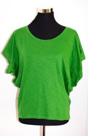 ZARA Oversized Shirt / Top in Grasgrün, Fledermausschnitt Gr. S (wie 36)