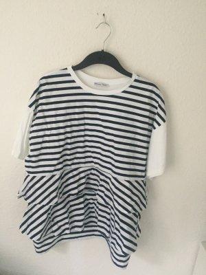 Zara oversized streifen Shirt mit Volants