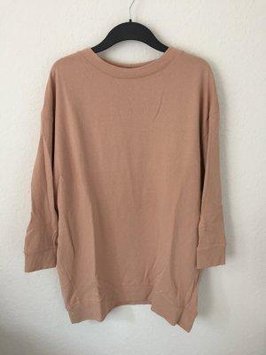 Zara oversized Sweatshirt Nude Rosa