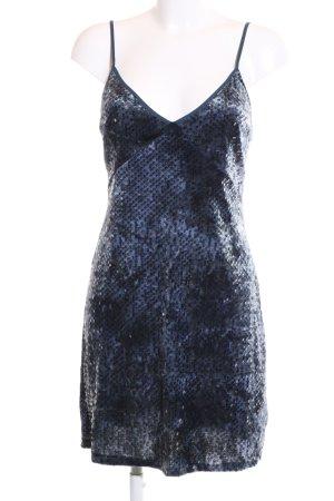 Zara Sequin Dress blue-black allover print elegant